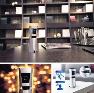 【Sens8】蘇州初創公司蘇州漣漪信息科技有限公司自家研發的家居防盜系統,外形恍似一座小獎杯,以鋁鎂合金鑄造而成,擁有共8項專利技術。它內置1,080p高清網絡攝錄鏡頭(夜視功能),同時配備PIR紅外綫探測器、磁光傳感器、溫度及濕度傳感器等,可發出高達95分貝警報訊號及發送通知外,還可於斷電情況下緊守崗位,讓你全天監控家居狀況。內置的後備電池,足夠支撑2小時。(查詢:www.rippleinfo.com)(相片由被訪者提供)
