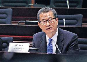財政司司長陳茂波日前表示,政府或檢討現行按揭成數,或有助購買力重回二手市場。(本刊攝影組)