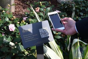 住戶可利用手機QR Code查閱有關植物資料。