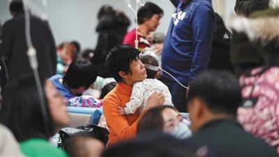 流感病人迫爆北京大小醫院。