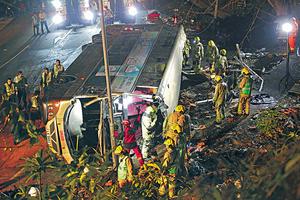 大埔公路日前發生嚴重車禍,巴士行車安全問題引起各界關注。(資料圖片)