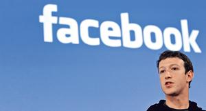 調查報告指,fb所流失的年輕用戶多轉用Snapchat。圖為fb總裁朱克伯格。(路透社資料圖片)