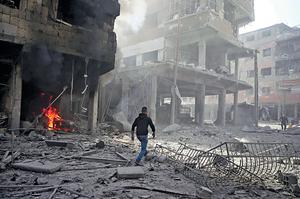 後ISIL時代中東不會平靜,敘利亞成為新爭奪的焦點,領土和領空中有不同的戰事在激烈進行。(路透社資料圖片)