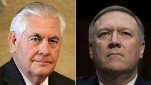 蒂勒森被革職,國務卿一職由CIA局長蓬佩奧頂上。(資料圖片)