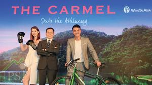 永泰地產發展執行董事兼銷售及市務總監鍾志霖(中)表示,屯門項目命名靈感源自美國加州中部海岸的高尚度假勝地Carmel。
