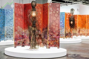 來自德國柏林的藝廊neugerriemschneider,帶來古巴藝術家Jorge Pardo的燈光雕塑作品《Untitled》。