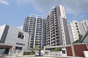 宏安旗下馬鞍山薈晴於3月中陸續入伙,現時放租單位平均呎租約$48,以開放式居多。(本刊攝影組)