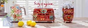 西西里島是D&G的靈感來源地,SMEG最新推出的聯乘系列「Sicily is my Love」,包括熱水壺、多士爐及榨汁機等。不銹鋼機身分別印有Crocchi幾何花卉、檸檬、柑橘、梨和車厘子等圖案,百分百意大利製造。