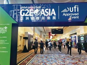 亞洲國際娛樂展一連3天在澳門舉行,與會者不但涉及環球博彩業,還有談及綜合度假村發展、科技應用。(鄺慧敏攝)