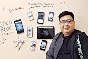 偲博已推出一個相片分享平台App「試水溫」,6至7月會推出專為設計者而設的平台FABY,兩者皆有意結合社交平台與商貿發展。圖為聯合始創人馬桂汶。(潘政祁攝)