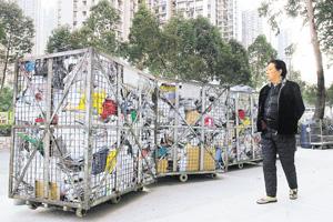 本港每日棄置在堆填區的廢物逾1.3萬公噸,處理廢物問題迫在眉睫。(資料圖片)