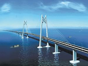 港珠澳大橋的興建拖延多時,終在去年12月進行動工。(資料圖片)