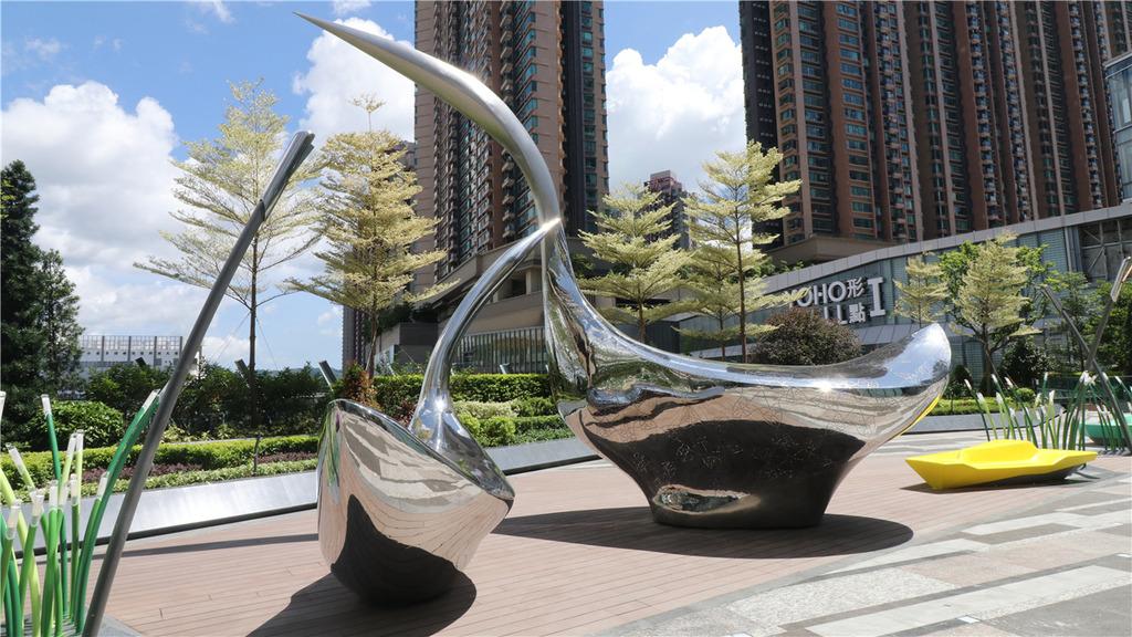 YOHO MALL白鷺花園 橫水渡概念座椅富元朗特色