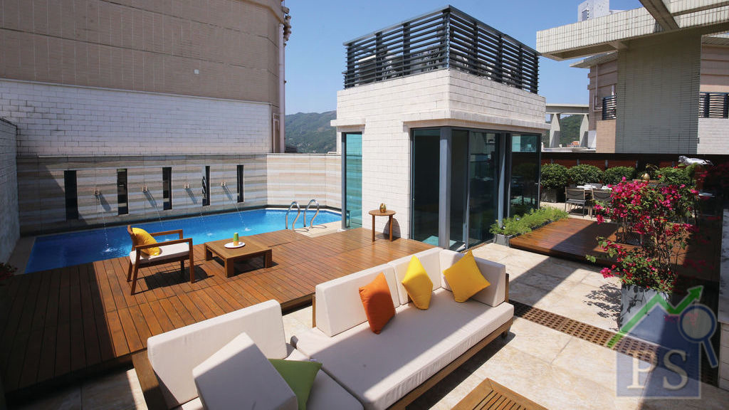 御龍山頂層特色戶 天台泳池私人resort