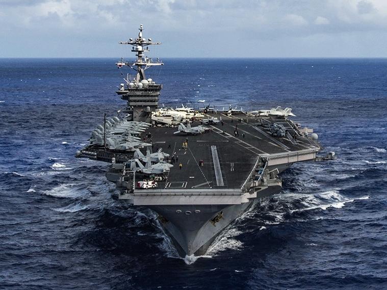 曾被特朗普描述為 「無敵艦隊」卡爾文森號航母戰鬥群,此原來一直在澳洲參與軍演。