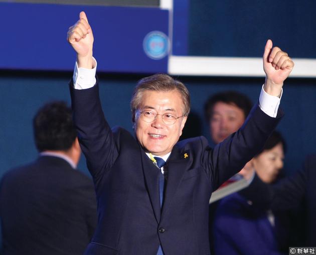 文在寅當選南韓總統。