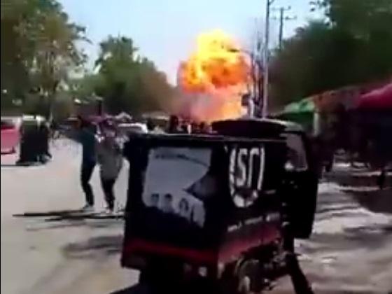 網傳爆炸現傳照片,但有指遠景「爆炸」存在嫁接。