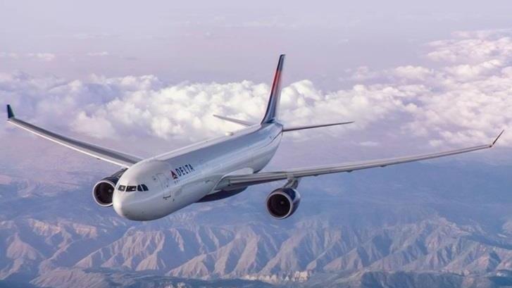 達美航空公司航班資料圖片。
