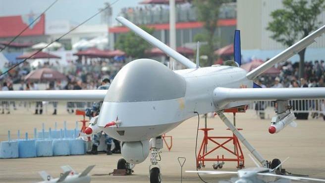 印度一架無人機近日在中國境內墜毁,有內地媒體指出,不排除該無人機遭中方反無人機系統擊落。圖為中國「攻擊-1」型無人機。