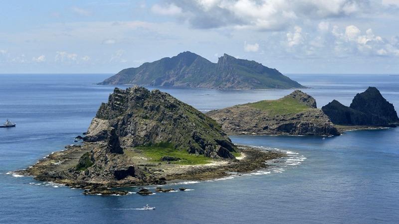 中日有主權爭議的釣魚島。