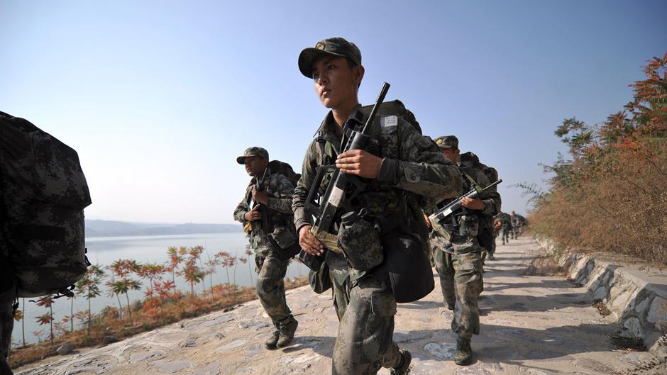 內地今年國防預算開支按年增加8.1%,增幅大於過去兩年。