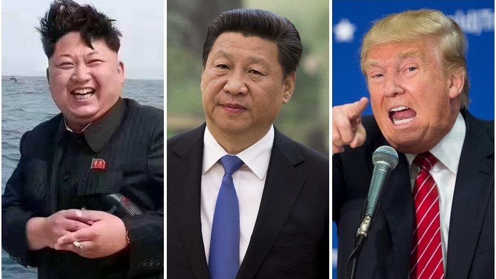 習近平、特朗普及金正恩,在朝鮮局勢上激烈博弈。