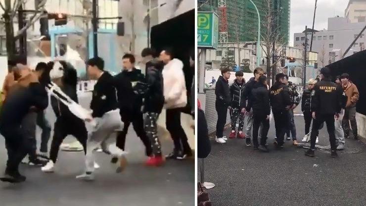 中國水客用摺椅毆打日本店員。