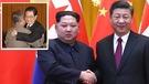 習金會沒有金正日共日訪華,與中國領導人熊抱的畫面。