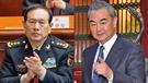 中國防長魏鳳和(左)與外長王毅,同一時間訪問俄羅斯。