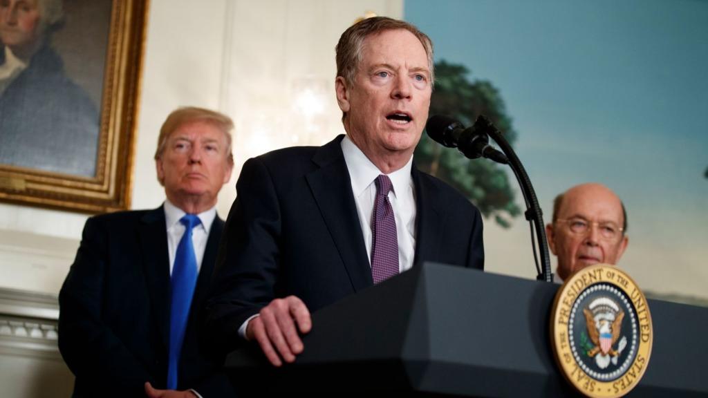 據外媒報道,美國總統特朗普針對中國貿易的強硬政策成形於去年8月份的一次白宮會議,核心策劃者正是對華鷹派人物萊特希澤。