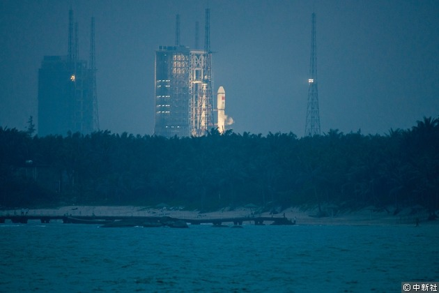 海南文昌航天發射中心。