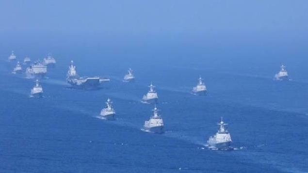 解放軍昨在南海舉行建國以來規模最大的海上閱兵。