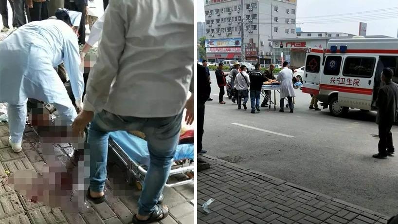 醫護救治傷者。