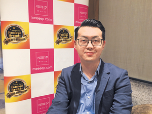ChargeSpot聯合創辦人陳德群表示,一帶一路為中國及香港製造品牌效應。(蘇穎琪攝)