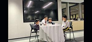 李嘉雯構思「飲茶」文化傳承活動,最近一個是以點心文化為主題的話劇,並由贊助的律師樓員工繙譯為英文及教小朋友發音,最後小朋友在律師樓表演,贏盡讚賞。(受訪者提供圖片)