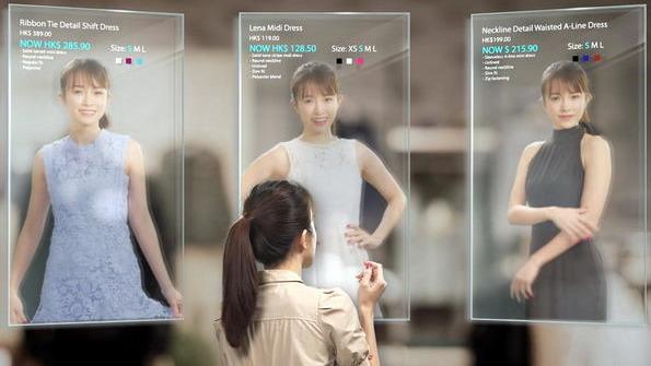 用科技模擬試穿效果,對時裝零售業有利。