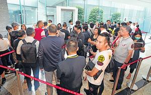 西南九龍匯璽III昨首輪推售352伙,即日近沽清,當中有投資者逆市掃貨。(曾耀輝攝)