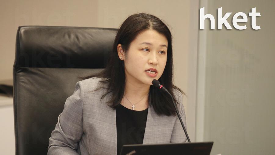 貿發局大中華區助理首席經濟師曾詩韻表示,第三季出口指數急跌為有紀錄以來的第三低。(陳國峰攝)