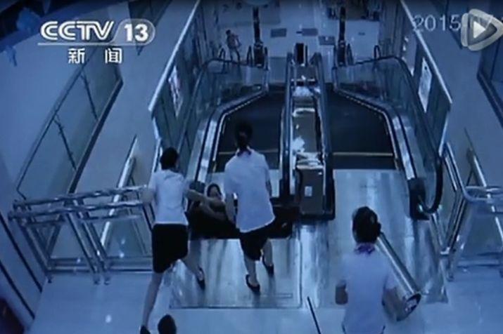 商場兩職員最終無法救回少婦。